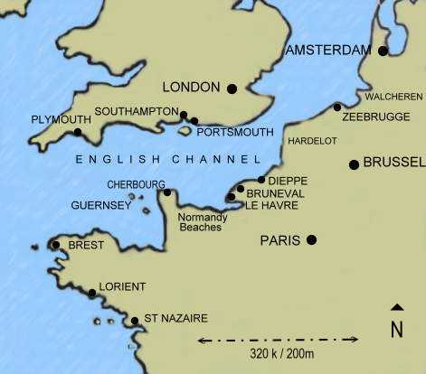 Map - English Channel
